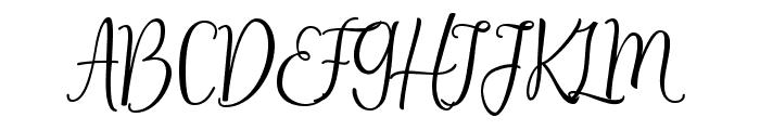 Selesia Heart Font UPPERCASE