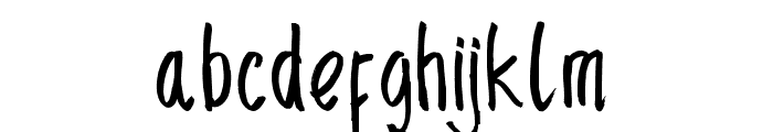 SencilloHanddrawn Font LOWERCASE
