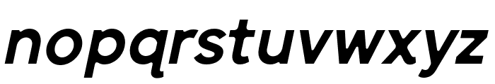 SenticDisplay-BoldItalic Font LOWERCASE