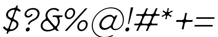 SenticDisplay-LightItalic Font OTHER CHARS
