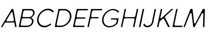 SenticDisplay-LightItalic Font UPPERCASE