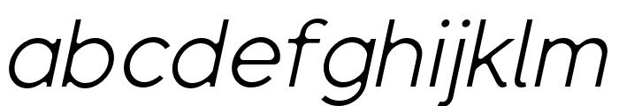 SenticDisplay-LightItalic Font LOWERCASE
