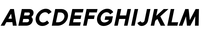 SenticText-BlackItalic Font UPPERCASE