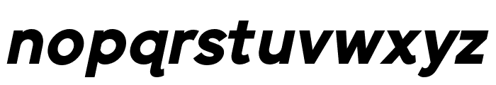 SenticText-BlackItalic Font LOWERCASE