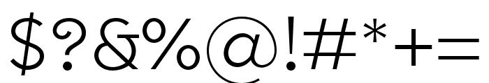 SenticText-Light Font OTHER CHARS