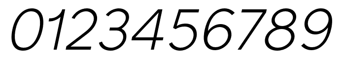 SenticText-LightItalic Font OTHER CHARS