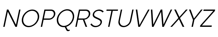 SenticText-LightItalic Font UPPERCASE