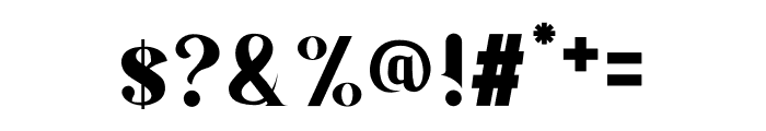 Serifain Font OTHER CHARS
