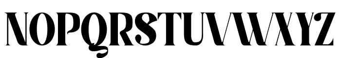 Serifain Font UPPERCASE
