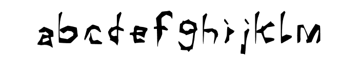 Shadow Horror Font LOWERCASE
