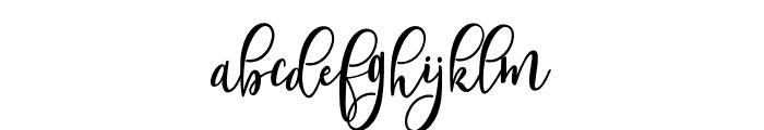ShanghaiScriptAlt Font LOWERCASE