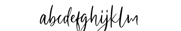 SharonBaker Font LOWERCASE