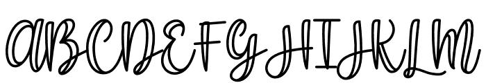Shecarea Line Font UPPERCASE