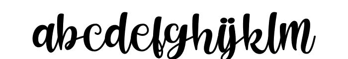 Shecarea Font LOWERCASE