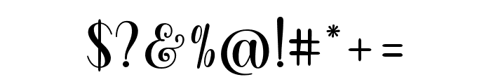 ShellyScript Font OTHER CHARS