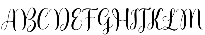 ShellyScript Font UPPERCASE