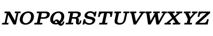 Shenandoah Clarendon Bold Italic Font UPPERCASE