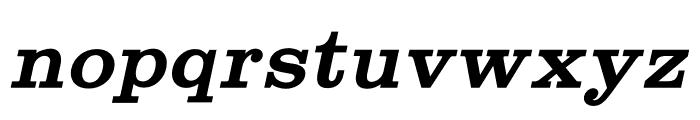 Shenandoah Clarendon Bold Italic Font LOWERCASE