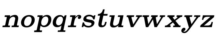 Shenandoah Clarendon Italic Font LOWERCASE