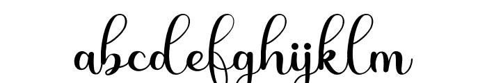 Shiny Aisyah Font LOWERCASE