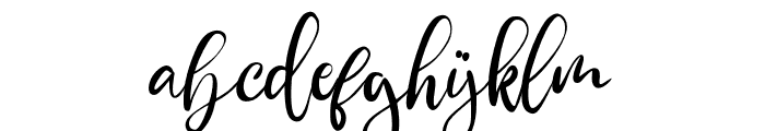 ShirleyaScript Font LOWERCASE