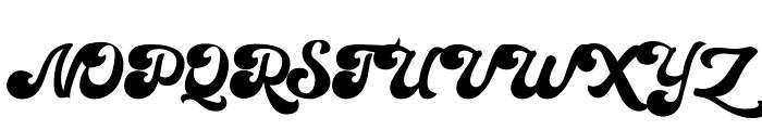 Sianok Valley Script Font UPPERCASE