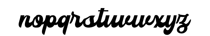 Sianok Valley Script Font LOWERCASE
