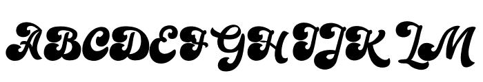 Sianok Valley Font UPPERCASE