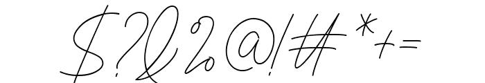 Signaline Script Font OTHER CHARS