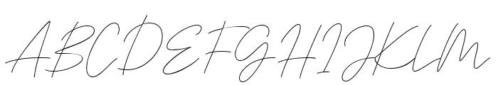 Signaline Script Font UPPERCASE