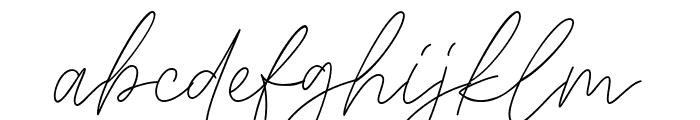 Signaline Script Font LOWERCASE