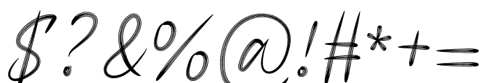 Signature Business Font OTHER CHARS