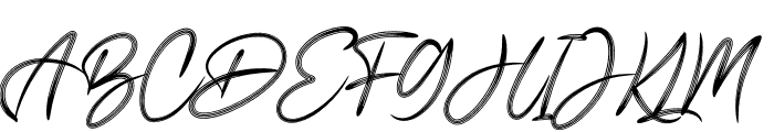 Signature Business Font UPPERCASE