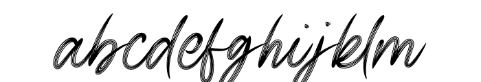 Signature Business Font LOWERCASE