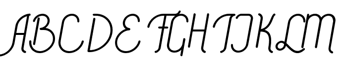 Signature Medium Font UPPERCASE