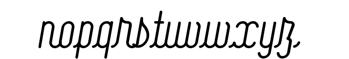 Signature Medium Font LOWERCASE