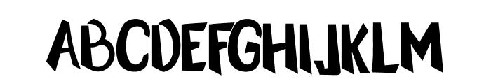 Silent Night Font UPPERCASE