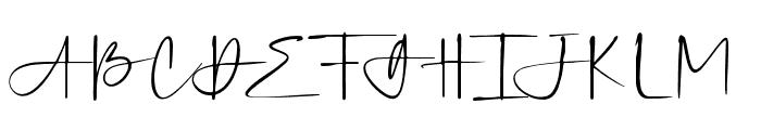 SilverSands Font UPPERCASE