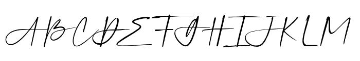 SilverSandsSlant Font UPPERCASE