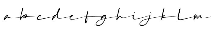 SilverSandsSlant Font LOWERCASE