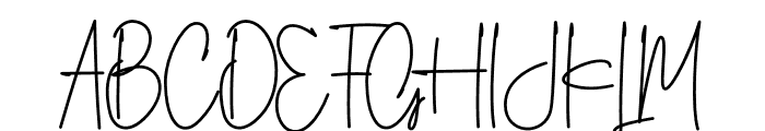 Silverstain_Signature_Font Font UPPERCASE