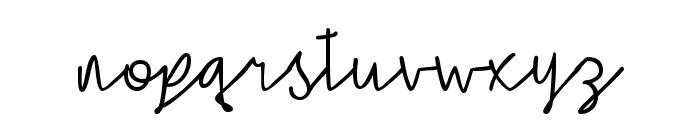 Simple Signature Font LOWERCASE