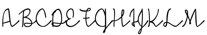 SimpleSignature Font UPPERCASE