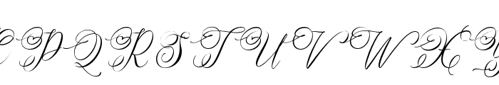 Simply Harmony Font UPPERCASE