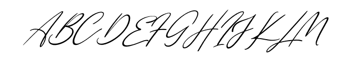 Single Signature Thin Tilted Font UPPERCASE
