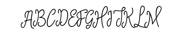 SinyakScript Font UPPERCASE