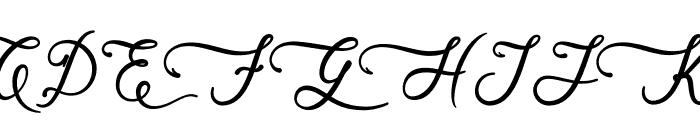 Skarlight Millagra Font UPPERCASE