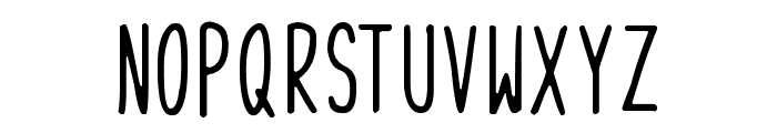 Skinny Things Font UPPERCASE