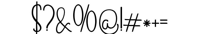 Skinny monogram02 Regular Font OTHER CHARS