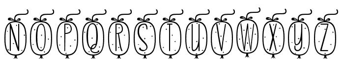Skinny monogram04 Regular Font LOWERCASE